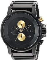 Vestal 'Plexi Acetate' Quartz and Stainless-Steel-Plated Dress Watch, Color:Black (Model: PLA024)