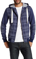 Smash Wear Zip Front Plaid Graph Hoodie