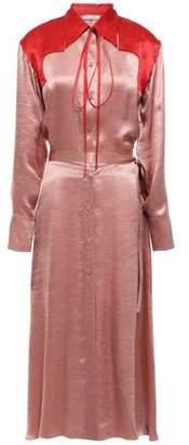Nina Ricci Two-tone Crinkled-satin Midi Shirt Dress