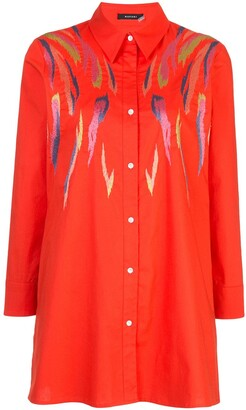 Natori Poplin Embroidered Shirt