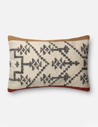 ED Ellen Degeneres Lulu And GeorgiaLulu & Georgia Solara Lumbar Pillow, Camel and Rust, Crafted by Loloi