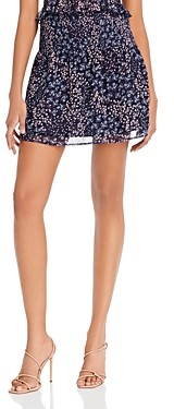 Aqua Floral Smocked Mini Skirt - 100% Exclusive