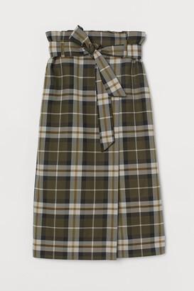 H&M Tie-belt wrapover skirt