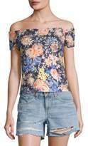 Rebecca Taylor Gigi Floral Off-the-Shoulder Jersey Top