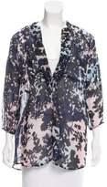 Diane von Furstenberg Silk-Blend Floral Printed Tunic