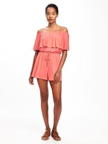 Old Navy Ruffle-Trim Swim Romper for Women