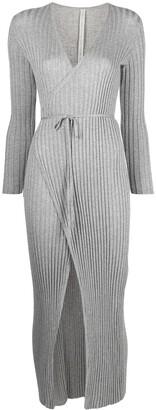 Antonella Rizza Ribbed-Knit Wrap Dress