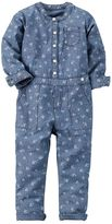 Carter's Girls 4-8 Floral Chambray Romper