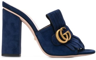 Gucci GG logo buckle heeled sandals