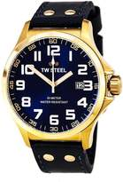TW Steel Pilot TW405 Men's 48MM Rose Gold & Leather Watch
