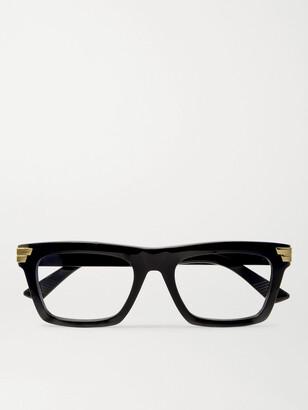 Bottega Veneta Square-Frame Acetate Optical Glasses - Men - Black