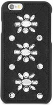 MICHAEL Michael Kors Embellished Leather-Inlay iPhone 6 Cover