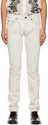 Saint Laurent Off-White Straight-Cut Jeans
