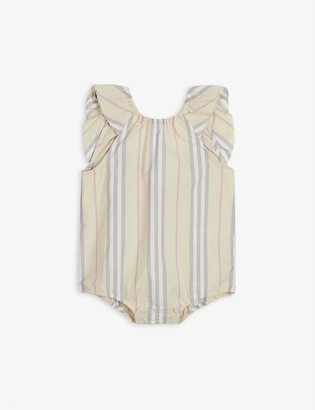 Burberry Debbie Icon-stripe bodysuit 1-18 months
