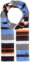 MICHAEL Michael Kors Stable Stripe Menage Dot Long Skinny Scarf Scarves