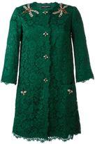 Dolce & Gabbana floral lace midi coat