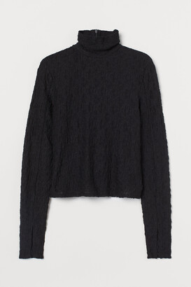 H&M Long-sleeved Turtleneck Top