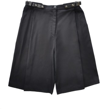 Pleated Unisex Shorts With Leather Adjustable Belts. Store Stock