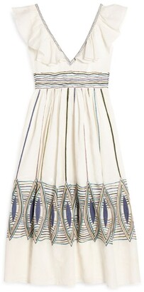 Le Sirenuse Positano Frida Embroidered Dress