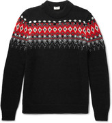 Saint Laurent - Sequinned Fair Isle Knitted Sweater