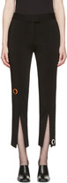 Christopher Kane Black Eyelet Split Seam Trousers
