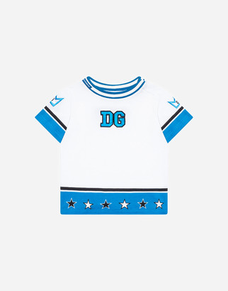Dolce & Gabbana Jersey T-Shirt With And Crown Patch Embellishment