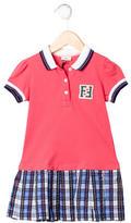 Fendi Girls' Plaid Short Sleeve Dress w/ Tags