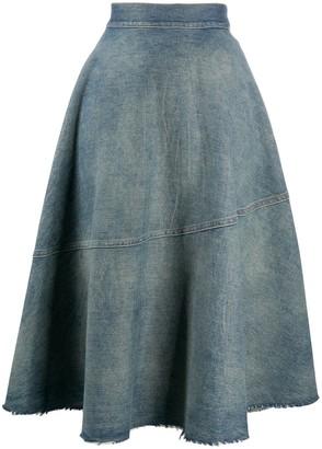 MM6 MAISON MARGIELA Flared Denim Skirt