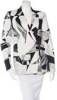Helmut Lang Abstract Pattern Buckle-Accent Blazer