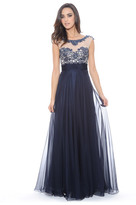 Decode 1.8 Bejeweled Illusion Neckline Dress 182781