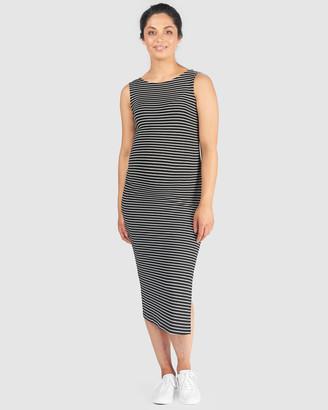 Pea in a Pod Maternity - Women's Black Midi Dresses - Matilda Nursing Dress - Size One Size, 8 at The Iconic