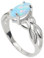 Journee Collection 1/4 CT. T.W. Marquise Cut Simulated Opal Celtic Ring in Sterling Silver - Silver