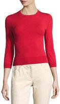 Michael Kors 3/4-Sleeve Crewneck Sweater