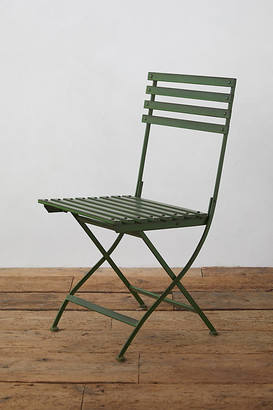 Anthropologie Myrtle Iron Chair By in Green Size ALL