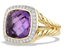 David Yurman Albion® Ring With Amethyst And Diamonds In 18K Gold