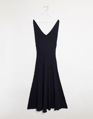 Free People sweet as honey slip dress in black
