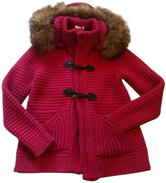 Bark Pink Wool Coat for Women