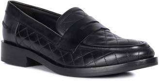 Geox Brogue Quilted Loafer