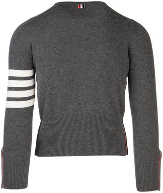 Thom Browne 4-Bar Fitted Sweater