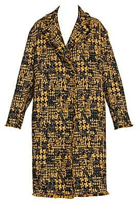 Dolce & Gabbana Women's Tweed Check Coat