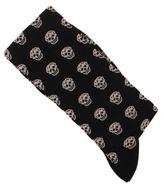 Alexander McQueen Black Cotton Skull Socks