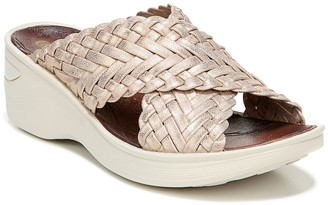 Bzees Dainty Woven Strap Wedge Sandal