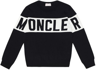 Moncler Enfant Intarsia wool sweater
