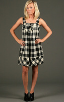 Audrey Bow Tie Check Dress
