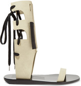 Rick Owens Lace-up suede sandals