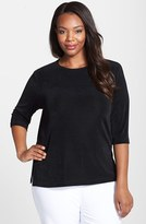 Vikki Vi Plus Size Women's Three Quarter Sleeve Top