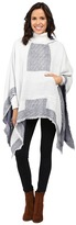 Vince Camuto Border Poncho w/ Center Pocket