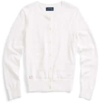 Ralph Lauren Knit-Hearts Cotton Cardigan