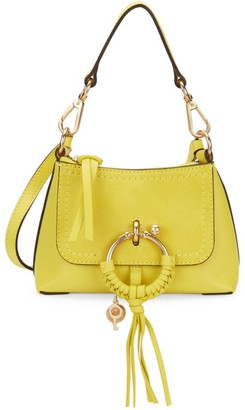 See by Chloe Mini Joan Suede & Pebbled Leather Hobo Bag