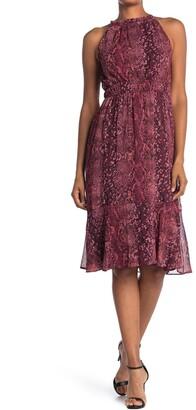 London Times Tiered Ruffle Sleeveless Dress